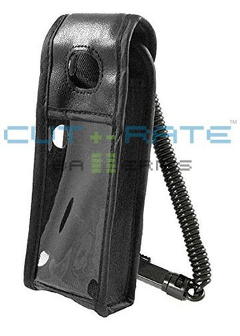 Avaya 3406 Vinyl Holster (Clear Keypad Cover) with Metal Hinge Clip and Coil Lanyard