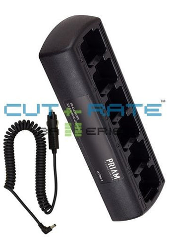 UC7100-B-KIT-M22T Universal Rapid Six-Bay In-Vehicle Drop-in Charger (Slim Design)