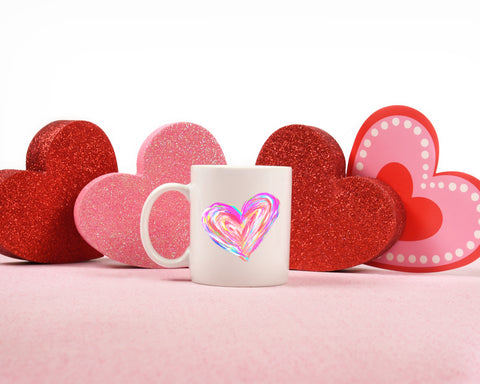 Colorful Heart: Coffee Mug