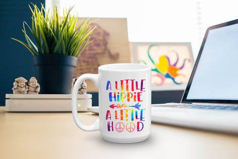 A Little Hippie A Little Hood: Coffee Mug