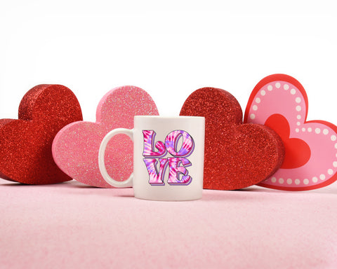Tie Dye Love: Coffee Mug