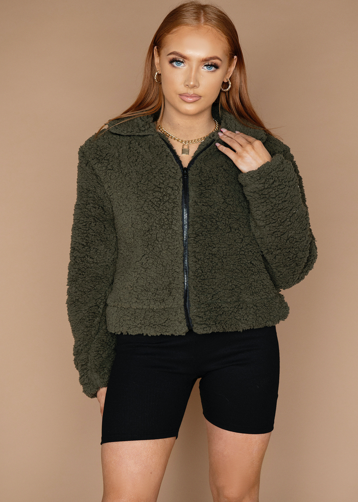 Khaki Teddy Jacket