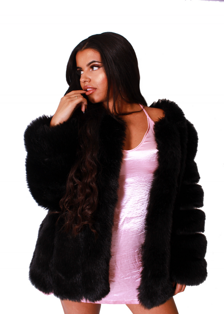 London Black Fur Coat