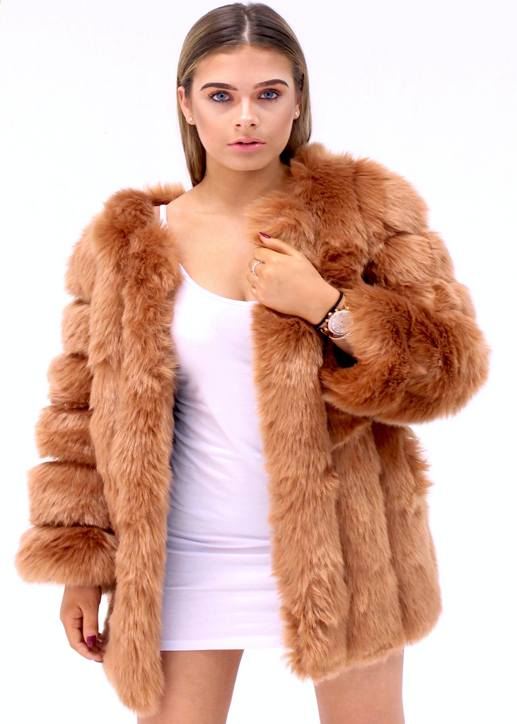 [Limited Edition] London Nude Fur Coat