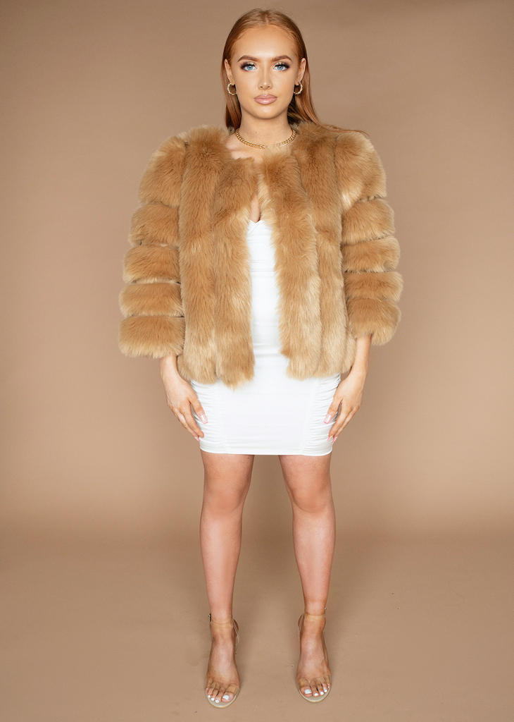 London Tan Fur Jacket
