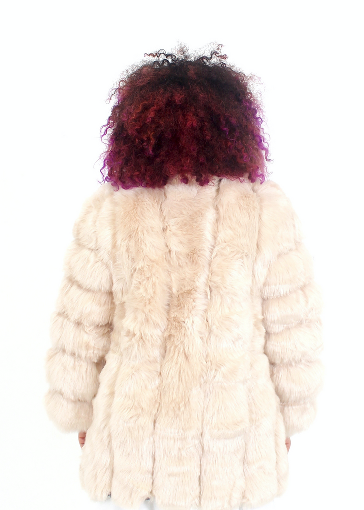 [Limited Edition] London Light Champagne Fur Coat