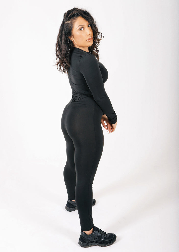 Black Fitted Corset Jumpsuit