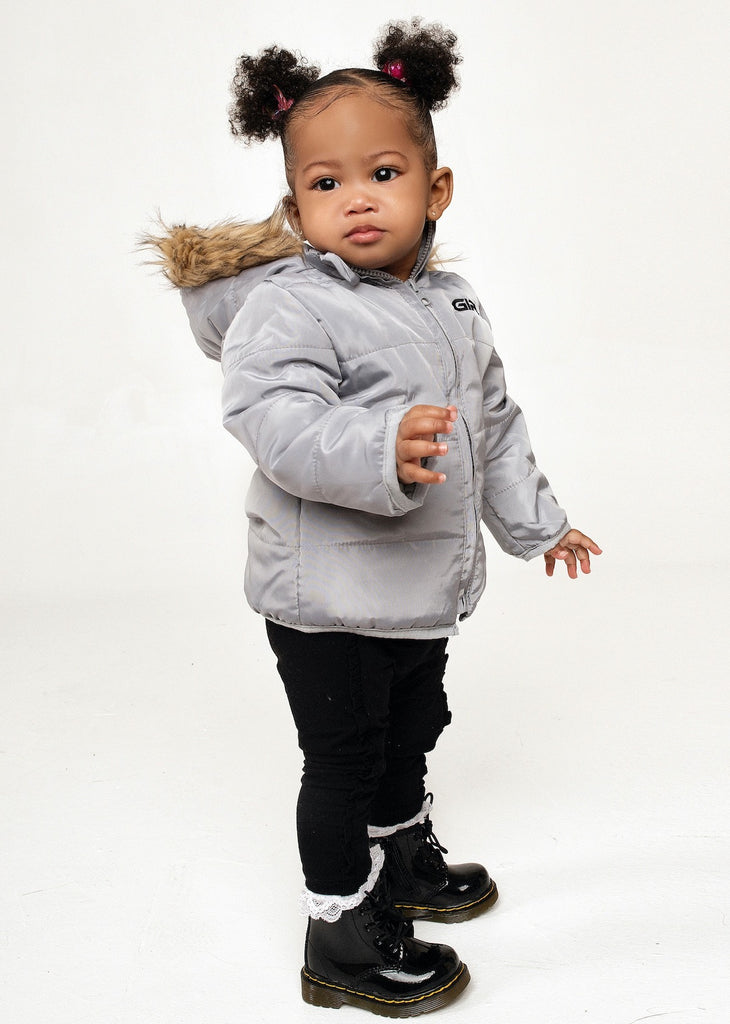 Grey Padded Winter Coat (6M to 5T)