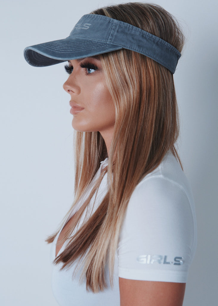 GIRLS Grey Visor Hat