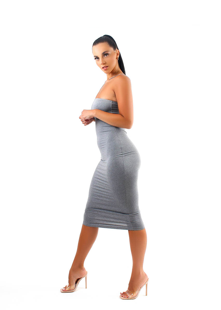 Grey CONCRETE Midi Dress
