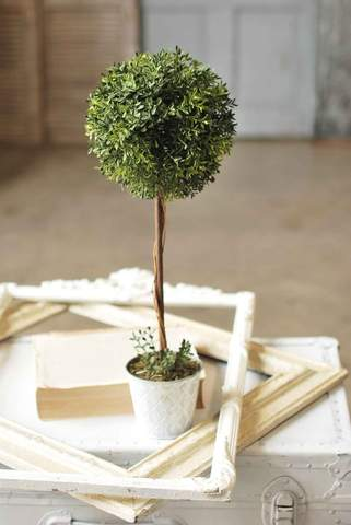 "New England Boxwood Topiary 23"" Tall"