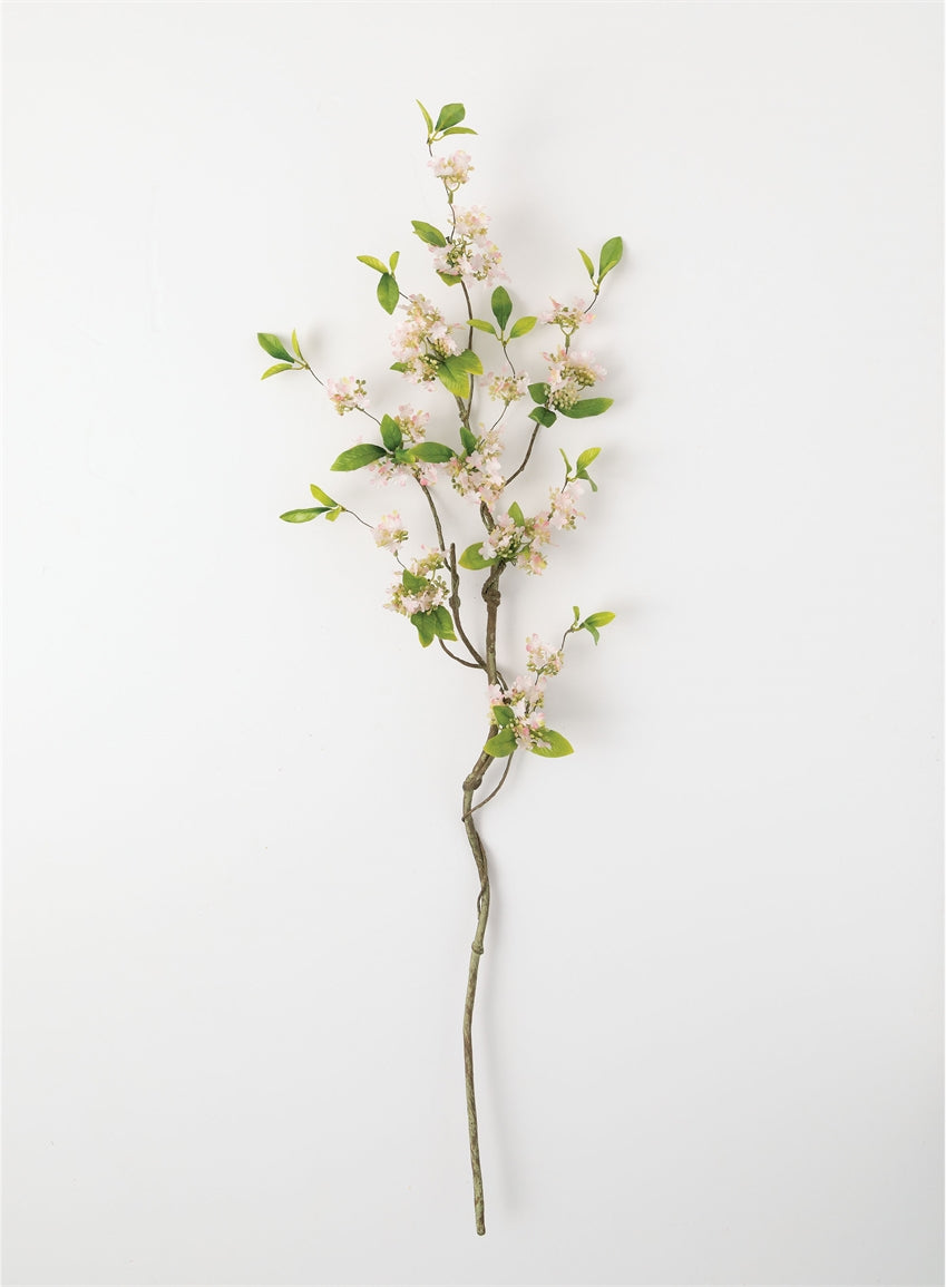Mini Flower with Rustic Stem Pink