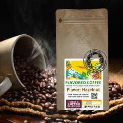 Hazelnut Flavored Organic Coffee