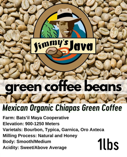mexican chiapas organic green coffee