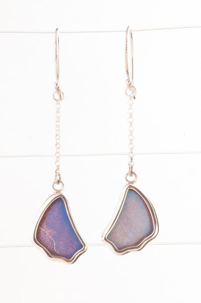 1-Real Butterfly Wings-A-SB-1B-Silver-butterfly-earrings-Iridescent-Blue-Wing-Shaped-Morpho-Didius