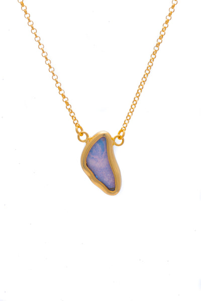 1-Real Butterfly Wings-A-SC-3B-Gold-butterfly-necklace-Iridescent-Blue-Wing-Shaped-Morpho-Didius