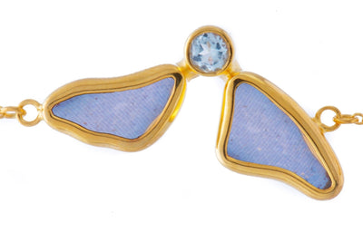 1-Real Butterfly Wings-A-2F-3F-Gold-butterfly-bracelet-with-blue-topaz-birthstone-Iridescent-Blue-half-Morpho-Didius