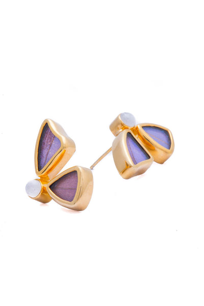 4--A-2D-2F-Gold-butterfly-earrings-with-blue-topaz-birthstone-Iridescent-Blue-half-Morpho-Didius