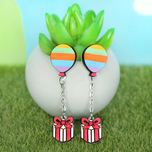 Bunny Balloon Earrings