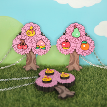 Load image into Gallery viewer, Fruit 'n Bells Tree Necklace [Sakura Edition]