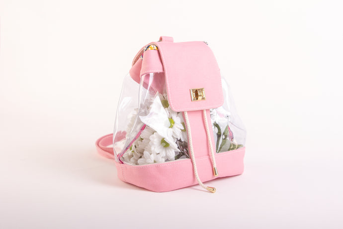 Plastic Pink Backpack