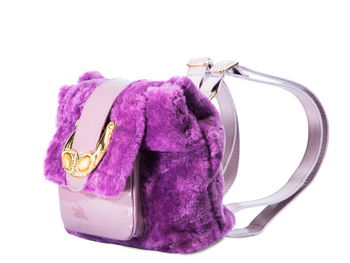 Furry Purple Mini BackPack