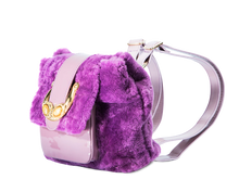 Load image into Gallery viewer, Furry Purple Mini BackPack