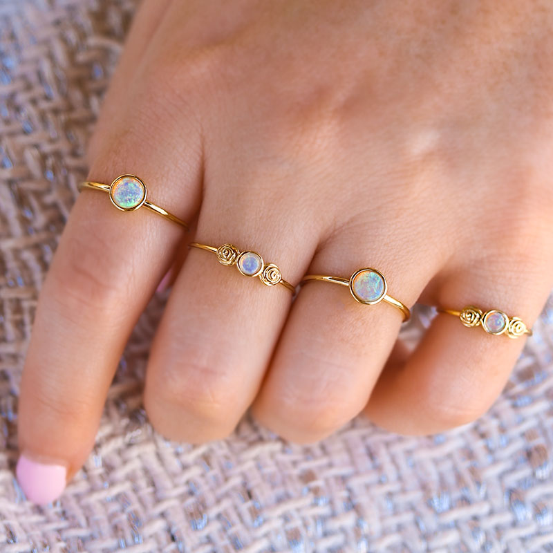 Blooming Opal Ring