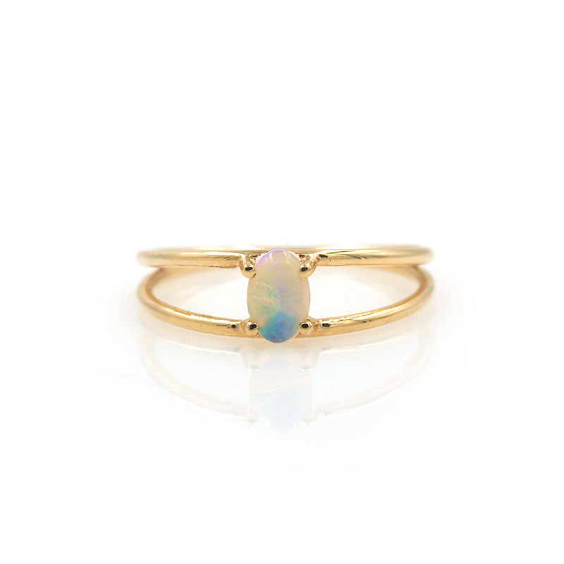 Floating Opal Ring