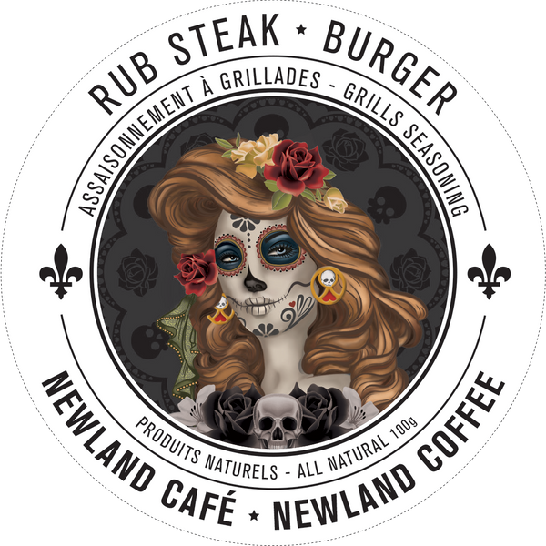 Assaisonnement à grillades - Rub BBQ à steak et burger par Newland Café vendu par SignéLocal.com