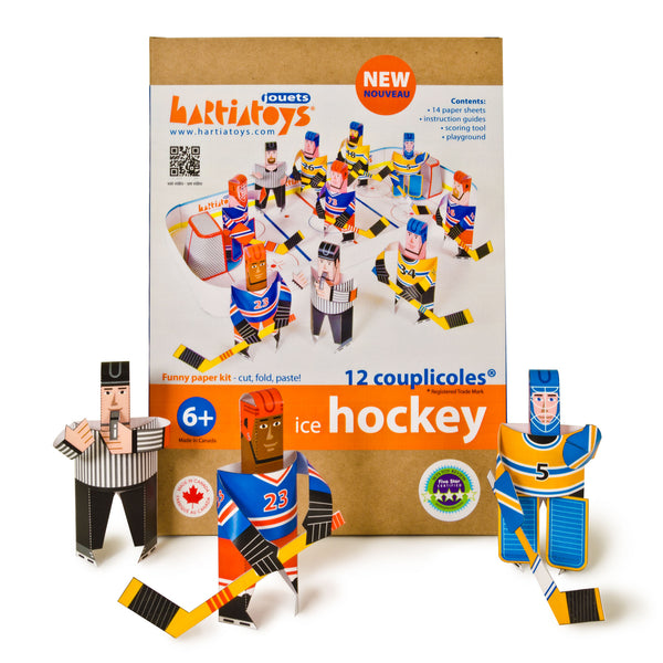 Construction de papier pour enfant- Hockey par Hartiatoys vendu par SignéLocal.com