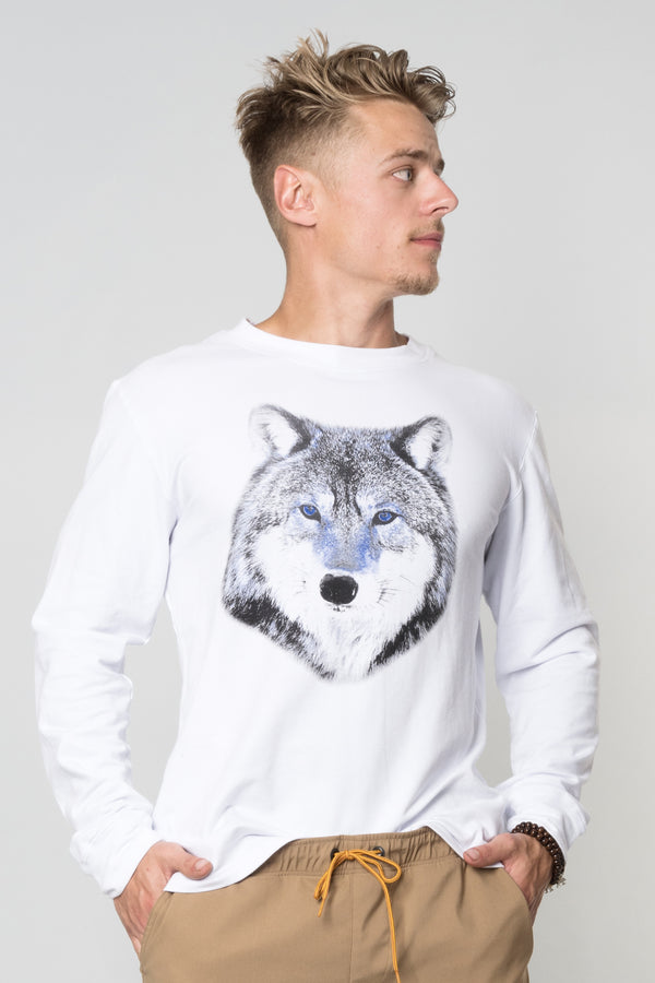 James - Chandail imprimé de loup par Mb Alpha Wear vendu par SignéLocal.com