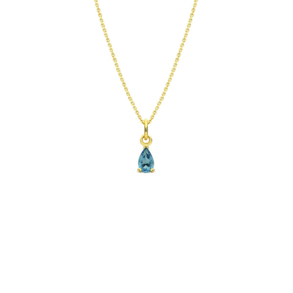 Pendentif  Alba - Or jaune - topaze London Blue