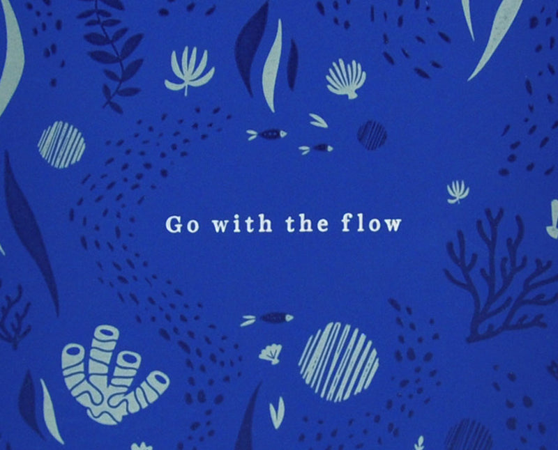 Carnet de notes - Go with the flow par Pigeon Atelier Letterpress vendu par SignéLocal.com