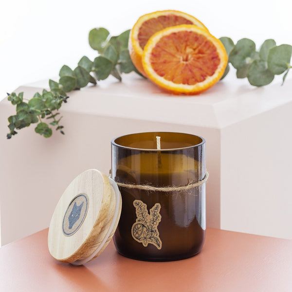 Bougie de soja - Eucalyptus et orange sanguine
