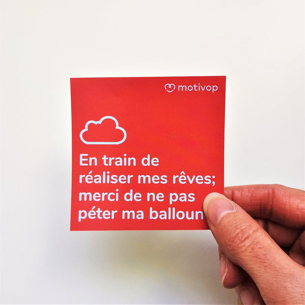 En train de réaliser - Collant à ordinateur par Motivop vendu par SignéLocal.com