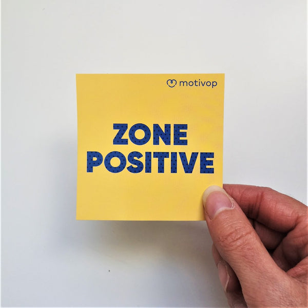 Zone positive - Collant à ordinateur par Motivop vendu par SignéLocal.com
