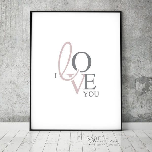 I Love You - Affiche