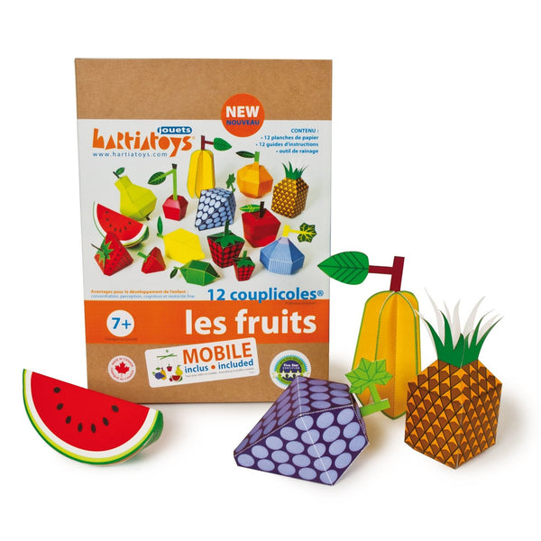 Construction de papier pour enfant - Fruits
