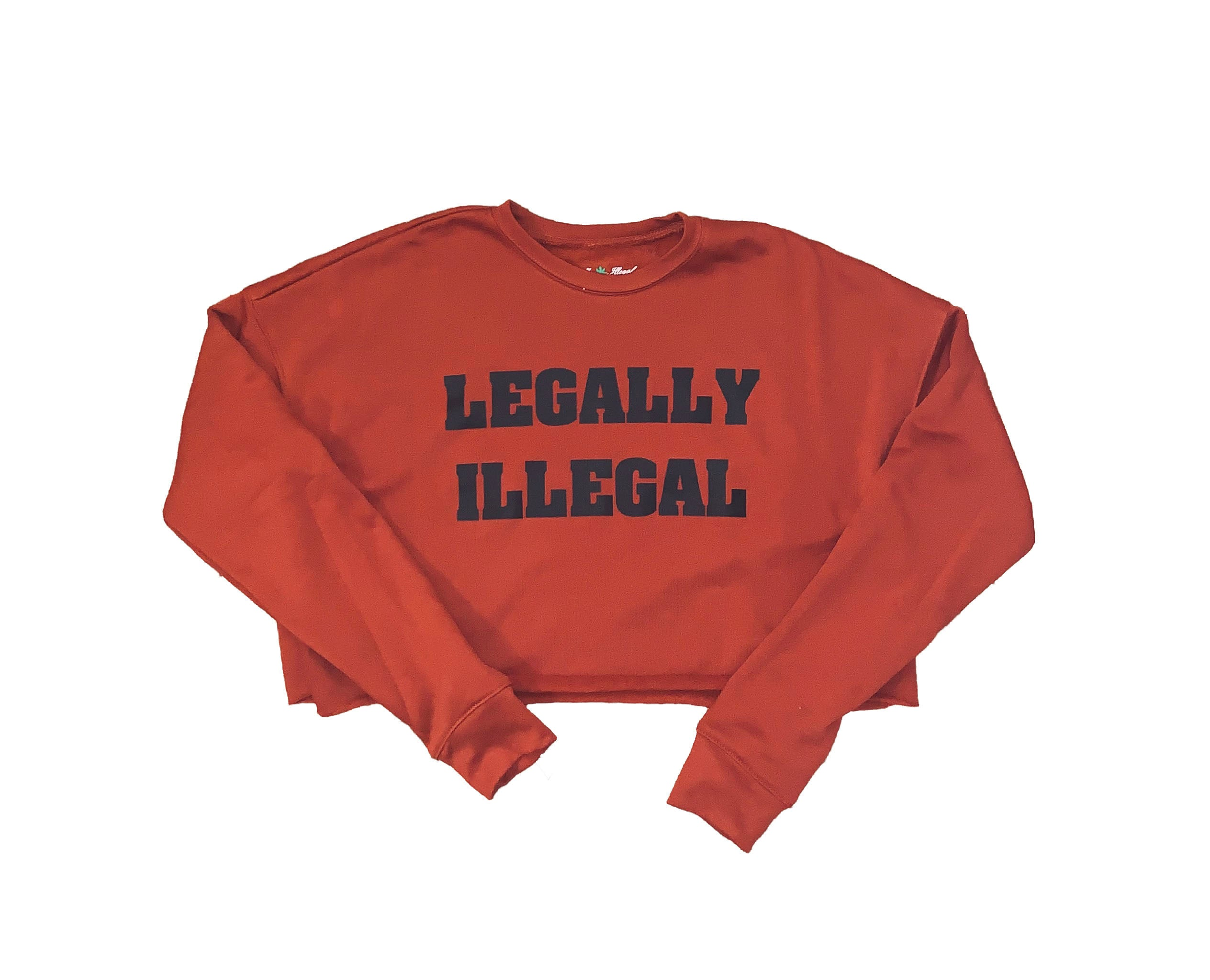 Legally Illegal Crop Sweater