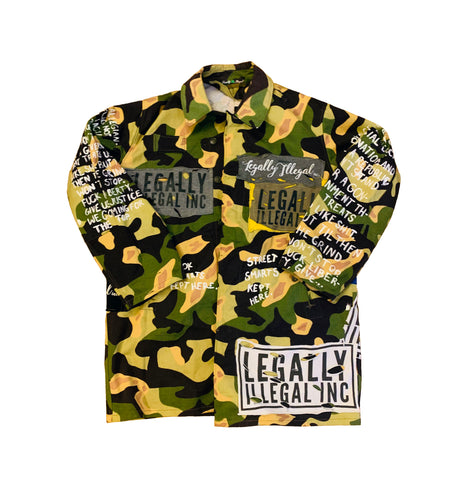 Custom Freeworld Oversized Camo Jacket