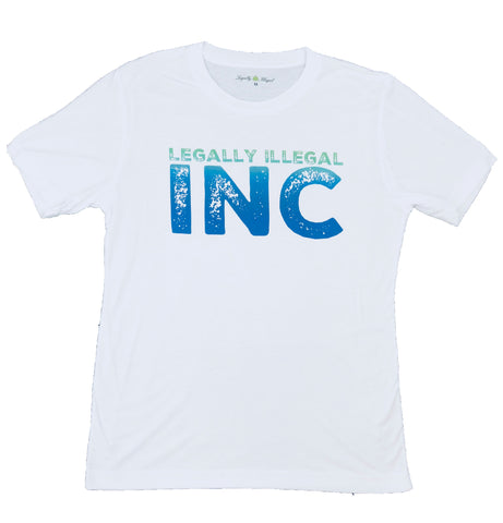 Legally Illegal Blue I. inc Tee