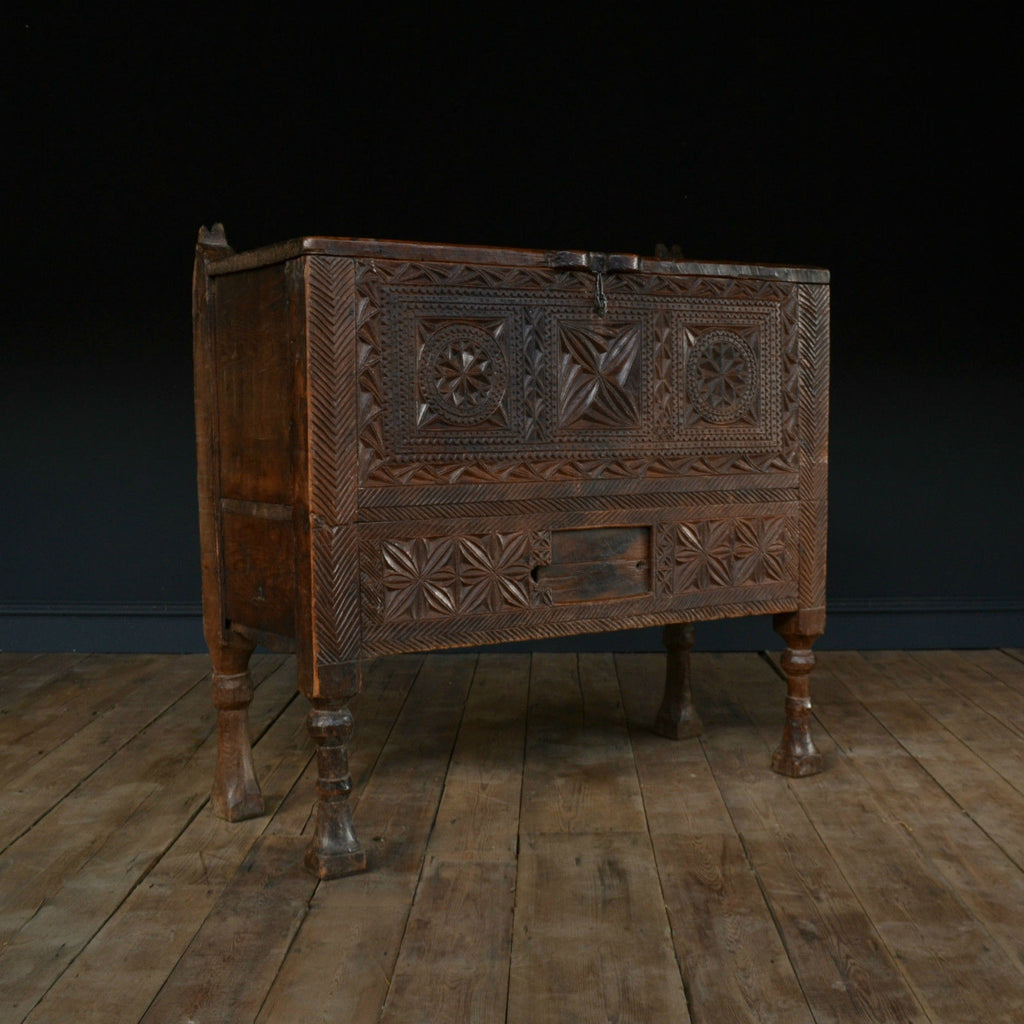"Antique 18th Century Continental ""Coffer"" Chest"