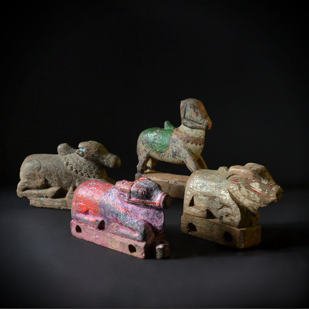 A Collection Of Four 18th Century Indian Cart Toys