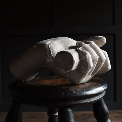 19th Century English Over Sized Plaster Artists Study Hand.