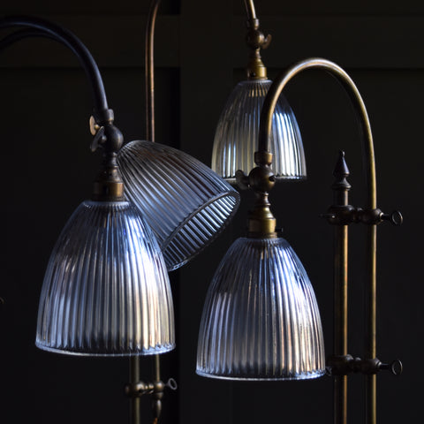 Attractive Vintage Rise and Fall Brass Table Lamps. Circa 1940.
