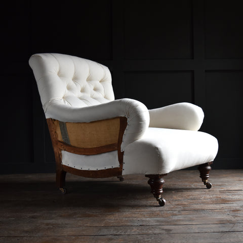 A Good English Country House Armchair In the Manner of Howard & Son. Upholstery Inclusive