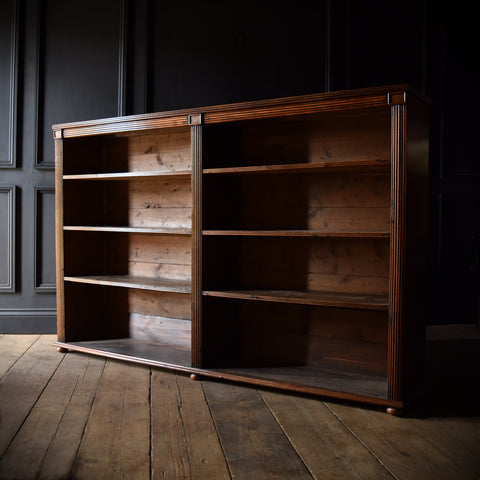 Attractive 19th Century Regency Style Open Bookcase.
