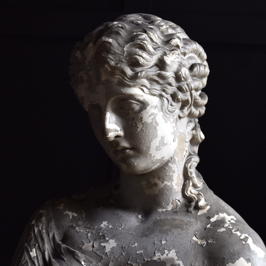 19th Century Life Size Plaster Bust of Clytie.  Provenance: Standen Hall, Clitheroe