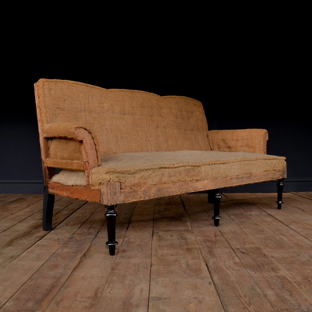 Elegant 19th Century French Three Seater Sofa, Upholstery inclusive.